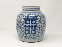 Alter großer Ingwertopf mit Deckel China Keramik Asiatika Vase ca. 20 cm