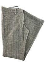 "Express Gray Herringbone Lined Straight Full Leg Pants Size 2 28x31"""