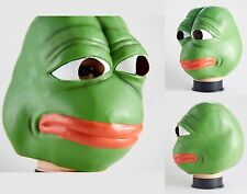 Pepe The Frog Latex Mask -4chan kekistan halloween Meme costume cosplay sad frog