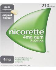 Nicorette Nicotine 4mg Sugar Gum - Original (210)