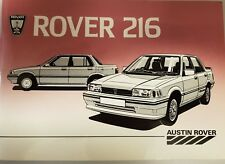 ROVER 216 HANDBOOK 1985