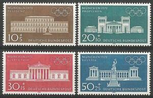Germany (West) 1970 MNH -Sports Architecture Olympic Games 1972 Munich Buildings