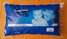 GUANCIALE CUSCINO 2 PEZZI CALEFFI IN VERA PIUMA D'OCA NATURALE ANALLERGICO 900GR