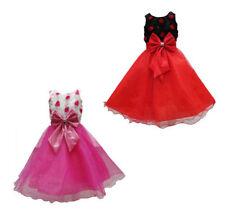 Robes noirs en polyester pour fille de 2 à 16 ans