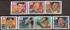 Scott #2731-37 Used Set of 7, Legends of American Music Bklt.