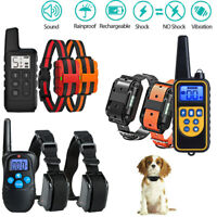 Electric Dog Shock Collar With Remote Waterproof For Large Pet Training 2 Dog