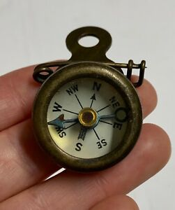 Vintage Marbles Gladstone Pin On Compass