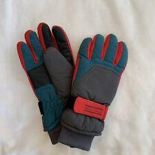 Eddie Bauer Ski/ Winter Gloves Red, Green, Gray Size Small Men's