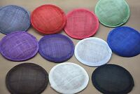 12cm Round Sinamay Hat fascinator Base millinery craft making material B067