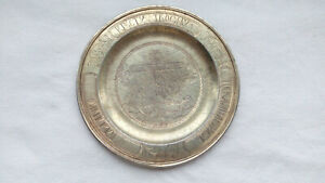 3534 Old from 1848 tsar silver 84 w some gilding church plate for communion