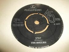 """THE HOLLIES """" STAY / NOW'S THE TIME """" 7"""" SINGLE PARLOPHONE R 5077 1963 VG"""