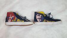 Vans Mens Sz 9.5 Shoes Beatles Yellow Submarine Sneakers Canvas Suede High Top