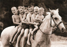 Snowman The Horse With Kids America Collection Birthday Card by Avanti Press