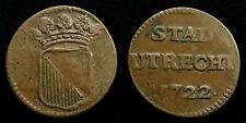 Netherlands / Utrecht - Duit 1722 ~ CNM 2.44.20
