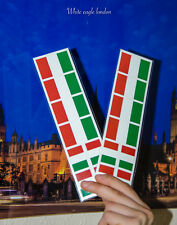 16 x ITALY ITALIAN FLAG temporary face tattoo Rugby Football fans favourite
