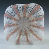 Salviati Murano Zanfirico & Aventurine Pink Glass Finger Bowl