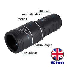 16x52 Dual Focus Optical Lens 16x Monocular Telescope - UK Stock