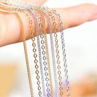 1 mètres breloque en métal chaîne collier boucles d'oreilles bijoux trouver RK