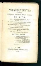 CARRON ABBE NOUVEAUX JUSTES DANS CONDITIONS ORDINAIRES DE LA SOCIETE RUSAND 1822