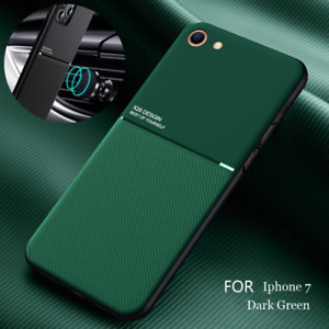 For Apple iPhone SE 2020 11 PU Leather Metal Carbon Fiber Hybrid Soft Case Cover
