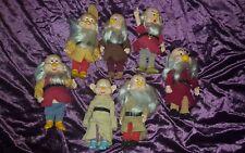 Vintage Disney Snow Blanco y Seven Dwarfs Dwarves Figuras Muñecas The Set Bikin 7