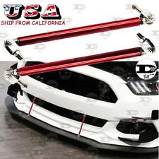 Red Adjustable Bumper Lip Splitter Rod Strut Tie Bar Support For Nissan Ford