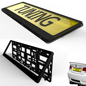Black Hinged Car Number Plate Surround Holder FOR ANY CAR TRUCK VAN TRAILER CAR