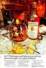 1972 Martell Cognac Brandy Vintage Bottle Washington & Lafayette PRINT AD