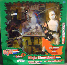 "GI Joe Vs. Cobra Ninja Showdown Snake Eyes vs Storm Shadow with DVD 12"" Figure"