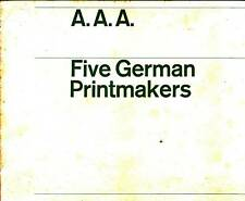 Five German Printmaker Jager Voss Art Catalog AAA NY 71