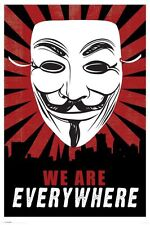 V FOR VENDETTA WE ARE EVERYWHERE 91.5 X 61CM POSTER NEW OFFICIAL MERCHANDISE
