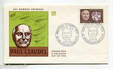 FRANCE 1968, FDC premier jour CLAUDEL, Timbre 1553