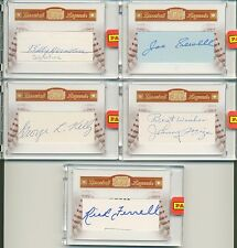 2010 Panini Century Legends CUT AUTO HOF LOT MIZE HERMAN SEWELL KELLY FERRELL *