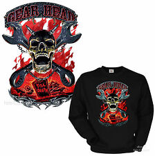 Rockabilly Hotrod Biker Skull Pullover Garage Kustom Sweatshirt *4269 bl