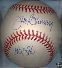 Jim Bunning Detroit Tigers HOF 96 OML Autographed Signed Baseball COA
