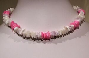 """Shell Multi Coloured Holiday Party Necklace Beach & Nautical Choker Length 16"""""""