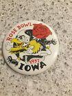 Iowa Hawkeyes Football 1957 Rose Bowl Badges/pin Vintage Super Rare