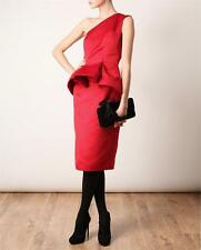 COLLECTIBLE LANVIN one shoulder ruffled peplum RED Cocktail  Dress size FR 40