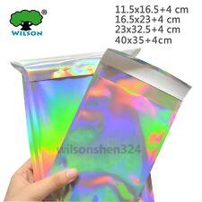 50 PCS Holographic Metallic Poly Mailers Shipping Mailing Self Sealing Envelope