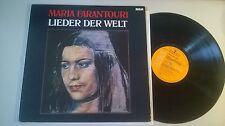 LP Ethno Maria Farantouri-canzoni del mondo (11) canzone RCA Records