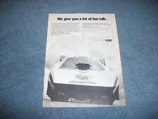"1979 Car Craft Magazine Subscription Ad with Tom ""The Mongoose"" McEwen Corvette"