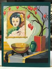 Vintage Art Still Life Japanese Lady Geisha Paint by Numbers Oriental Picture