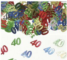 Konfetti Streudeko Zahlenkonfetti 40 Jahre Metallic-Look