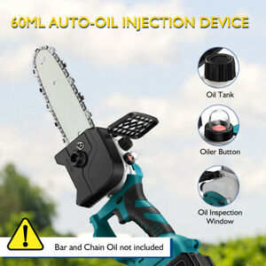21v 8inch Pruning Mini Brushless Cordless Chainsaw with Replacement Chain Wood
