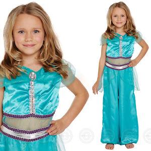 GIRLS ARABIAN PRINCESS FANCY DRESS COSTUME FAIRY TALE KIDS WORLD BOOK FAIRYTALE