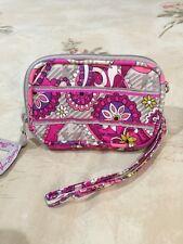 Vera Bradley Wristlet Wallet Phone Tech Case In Plaid Meets Paisley Pink