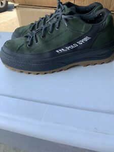 vintage POLO SPORT extreme shoes green suede size 13 90s style