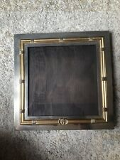 Vintage Gucci Gold Silver Tone Picture Frame