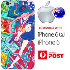iPhone 6 6S Case Cover Colourful Sailor Moon Funky Gun Superher Serena Anime AUS