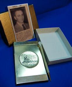 Rare 1959 A.C. Gilbert Company 50th Anniversary Pen & Note Pad Desk Set, Ex+